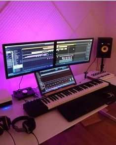 65 Trendy ideas for music room study recording studioYou can find Recording studio and more on our Trendy ideas for music room study recording studio Music Studio Decor, Home Recording Studio Setup, Home Studio Setup, Home Studio Music, Dream Studio, Studio Ideas, Feng Shui, Audio Studio, Picture Credit