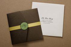 Custom Wedding Invitation by Tina Chen, via Behance