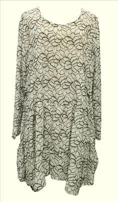 AKH Fashion Lagenlook edle Tunika Kleid aus Spitze in champagner XL Mode bei www.modeolymp.lafeo.de