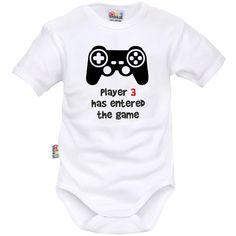 Body bébé geek : PLAYER 3 has entered the game - SiMedio
