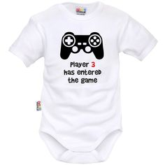 Body bébé geek : PLAYER 3 has entered the game - SiMedio