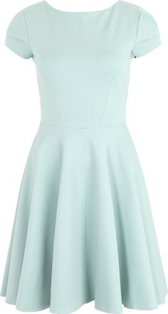 6b227eb2704 Closet London Skater-Kleid mit Reißverschlussdetail in mint