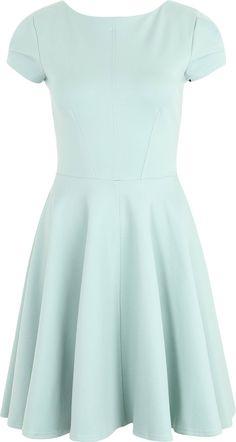 Skater-Kleid mit Reißverschlussdetail von Closet London. Schnelle und kostenlose…