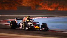 Max Verstappen drives during Q1 of qualifying at the Bahrain Grand Prix