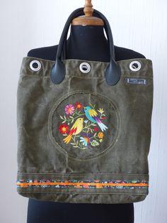 Trendige BW-Seesack Tasche von fil d'aiguille auf DaWanda.com