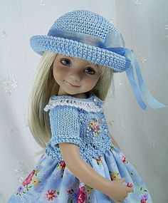 """Outfit for Dianna Effner Little Darling 13"""" Doll by Ulla, Spring Blue #DiannaEffner"""