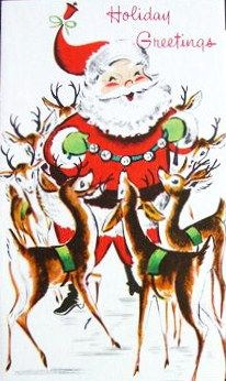 I adore vintage deer. <3 : Holiday Greetings