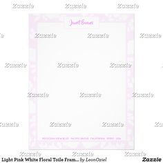 Shop Light Pink White Floral Toile Frame Personalized Letterhead created by LeonOziel. Addressing Envelopes, Laser Printer, Personalized Stationery, Shop Lighting, Letterhead, Letter Size, Day Up, Thank You Cards, Pink White