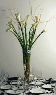 Weddings, Decoration, Flowers and Centerpieces with White Cala Lily