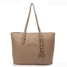 Michael Kors Jet Set Big Logo Large Apricot Tote