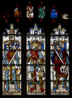 Stained glass window, N.IV, St Mary's church, Fairford, Glos.
