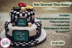 Sweet Cucas and Cupcakes by Rosângela Rolim: Bolo Decorado Tema Boteco