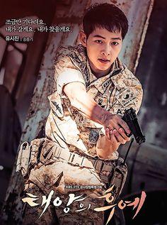 Poster Descendants of the Sun Song Joong-ki Song Hye Kyo, Park Hae Jin, Park Seo Joon, Kdrama, Decendants Of The Sun, Park Bogum, Sun Song, Moorim School, A Werewolf Boy