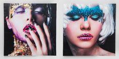 Πίνακας Glam face Lady 100x100 Assorted Ψηφιακή εκτύπωση σε καμβά, περασμένη με ακρυλικό. Kare Design, Sunglasses Women, Halloween Face Makeup, Rock, Lady, Accessories, Girls, Home Furnishings, Toddler Girls
