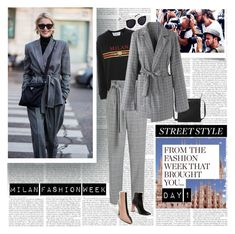 """""""Milan Fashion Week Street Style Day 1"""" by stylepersonal ❤ liked on Polyvore featuring MANGO, Topshop, Miss Selfridge, Lauren Ralph Lauren, Chicwish, StreetStyle, fashionWeek and mfw"""