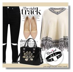 """""""The right track"""" by jenny007-281 ❤ liked on Polyvore featuring Boohoo, Charlotte Olympia and vintage"""