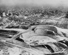 Construction on the way at #DodgerStadium Chavez Ravine https://www.barrystickets.com/blog/chavez-ravine-dodger-stadium/