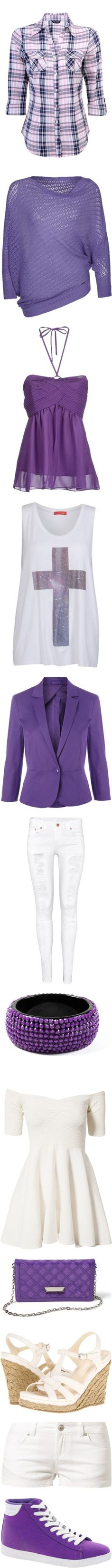 """Gothic White Purple"" by lauraarmayonescarranza ❤ liked on Polyvore"
