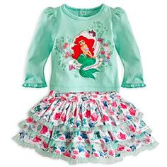 Disney Ariel Skirt Set for Baby | Disney StoreAriel Skirt Set for Baby - With their coordinating colors and design, the skirt and top of this Ariel set go together swimmingly well. The shimmering mermaid tail is surrounded by glittering bubbles, while the tiered skirt is edged with ruffled tulle.