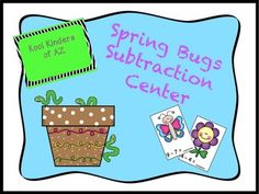 This is a cute spring time subtraction center for your classroom!Included in the file:-24 subtraction problem cards-subtraction solving mats (students move manipulatives or included worm counters to a flower pot to subtract and record their equations)-worm counters-black and white copies of all materials (to save ink: print on colored paper or have your students color them before you laminate)