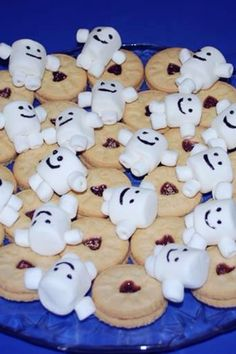 Adipose and Jammie Dodgers. Dr. Who Party dessert tray.