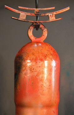 Bells - Twisted Horn Forge Sound Sculpture, Art Sculptures, Welding Art, Welding Projects, Temple Bells, Bell Art, Diy Wind Chimes, Junk Art, Find Objects