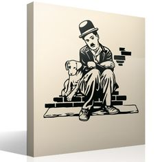 Wall Stickers Charlot - Dogs life