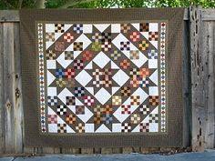 What a beautiful Nine Patch Variation quilt and setting! Love everything about this quilt!~