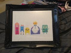 Adventure Time Cross Stitch - Princess Bubblegum, Finn the Human, Jake the Dog, Ice King, BMO  Little Red Stitches