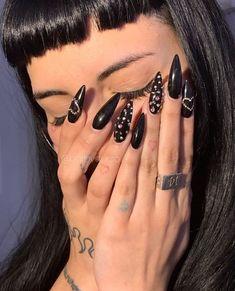 Gothic Nails, Nail Inspo, Me As A Girlfriend, Acrylic Nails, Sculpting, Nail Designs, Nail Art, Makeup, Beauty