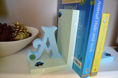 Letter and Shape Book Ends - Dancing Duck Designs £13.00-£14.50