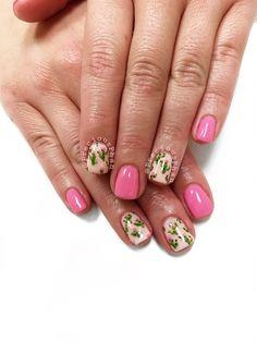 Look at these spring nails - Kaktus Get Nails, Hair And Nails, Spring Nails, Summer Nails, Western Nails, Gel Nail Art Designs, Manicure Y Pedicure, Toe Nail Art, Powder Nails