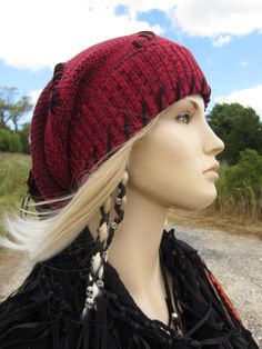 Edgy BOHO Style Slouchy Beanie Hat Womens Winter by Vacationhouse
