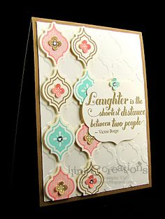 SU new in colors Baked Brown Sugar, Crisp Cantaloupe and Coastal Cabana, along with Mosaic Madness set and the matching embossing folder.