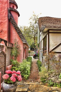 Alleyway by the Cottage of Sweets, Carmel, CA. via : by proteamundi on indulgy | photo by Pocoken on Flickr