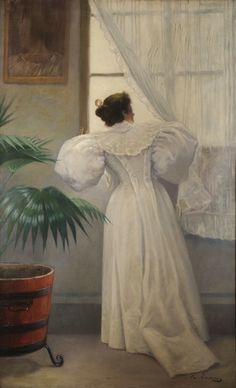 RAMON CASAS  Looking outside c. 1890   Oil on canvas   150 x 91 cm