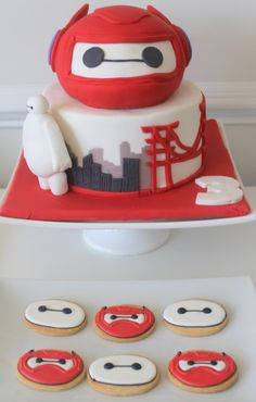 big hero 6 party cake and cookies