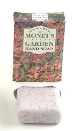 4 Monet's Giverny Garden Theme Scented Herbal Soap Bars, Imported from England, CLOSEOUT, Bulk Sale of 4 Bars per Order by Master Herbalist of England. $8.00. Imported from England's Master Herbalist. Also available: Monet themed scented bath oil and bath herbal sachets. Four 100g bars of glycerine-rich scented natural herbal soap. Each bar is individually boxed in beautiful artwork depicting Monet's Giverny Garden packaging. Perfect for gift baskets and guest...
