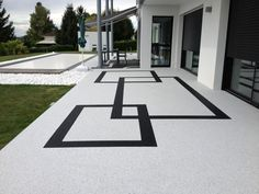 Ideas For Backyard Patio Flooring Front Porches Modern Driveway, Driveway Design, Outside Flooring, Patio Flooring, Garden Floor, Terrace Garden, Front Yard Landscaping, Backyard Patio, Side Yards