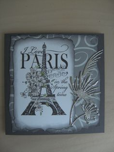 Stampendous Cling, I Love Paris