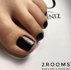 Fall Pedicure, Pedicure Colors, Pedicure Nail Art, Mani Pedi, Cute Toe Nails, Cute Toes, Pretty Toes, Toe Nail Color, Toe Nail Art