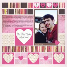 Create a unique scrapbook page of your sweetie with Mosaic Moments grid paper. We show you five love scrapbook page ideas to help you get inspired!