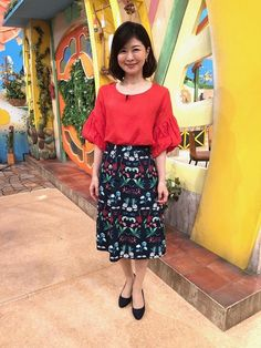 松井愛|今週の衣装|せやねん!|MBS毎日放送 Waist Skirt, High Waisted Skirt, Skirts, Vintage, Style, Fashion, Swag, Moda, Skirt