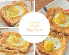 "Combining her love for cheesy eggs with eggs ""over easy,"" try this delicious Cheesy Baked Egg Toast for breakfast. Breakfast Toast, Perfect Breakfast, Breakfast Recipes, Brunch Recipes, Cheesy Eggs, Cooking Recipes, Healthy Recipes, Easy Recipes, Healthy Food"