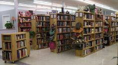 """Goodwill Bookstores in Florida. """"All books are cleaned, then fictionbooks are alphabetized and non-fiction books are categorized. The children's room has over 5,000 categorized books, along with a section for board-games and jigsaw puzzles. There is a categorized media room with blockbuster movies on VHS & DVD, books on cassette and CD, video games, software, and music CD's. The Goodwill Bookstores offers over 30,000 books and videos with a rotation of over 500 new titles stocked daily."""""""