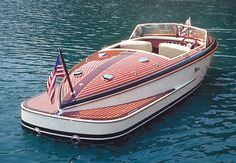 Sweet ride (Ventnor Wooden Boat) with real copper exhaust pipes. Nice!