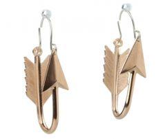Hoop Arrow Earrings