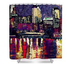 Shower Curtains - Philly Night Shower Curtain by Kevin J Cooper Artwork