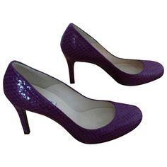 LK BENNETT Pink snakeskin effect shilo heels