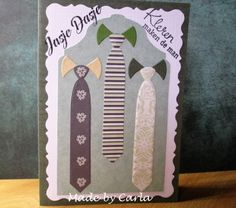 Mannenkaart stropdas